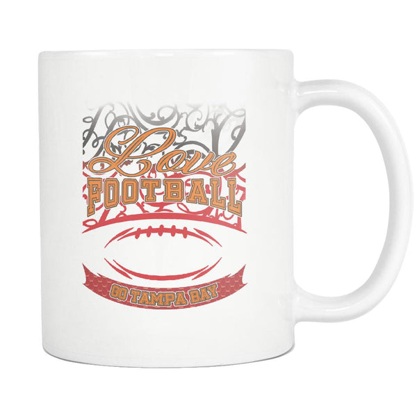 Love Football Game Go Tampa Bay Fan Apparel Gear Gradient Color Gift White 11oz Coffee Mug-NeatFind.net
