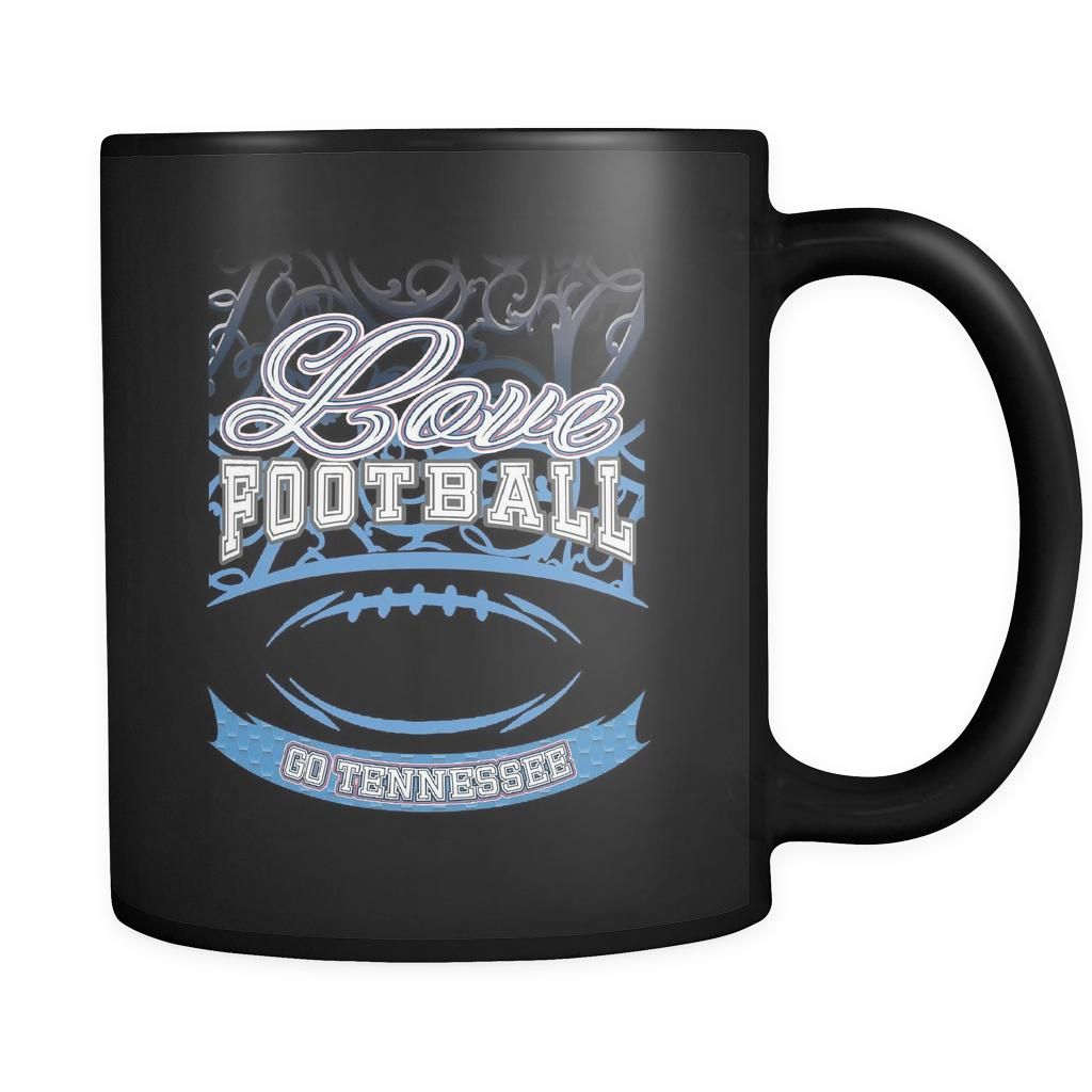 Love Football Game Go Tennessee Fan Apparel Gear Gradient Color Gift Black 11oz Coffee Mug-NeatFind.net