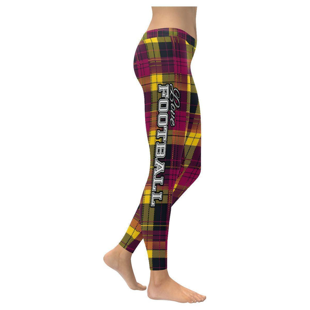 Love Football Go Arizona Fan Plaid Checkered Soft UPF40+ Womens Leggings-NeatFind.net