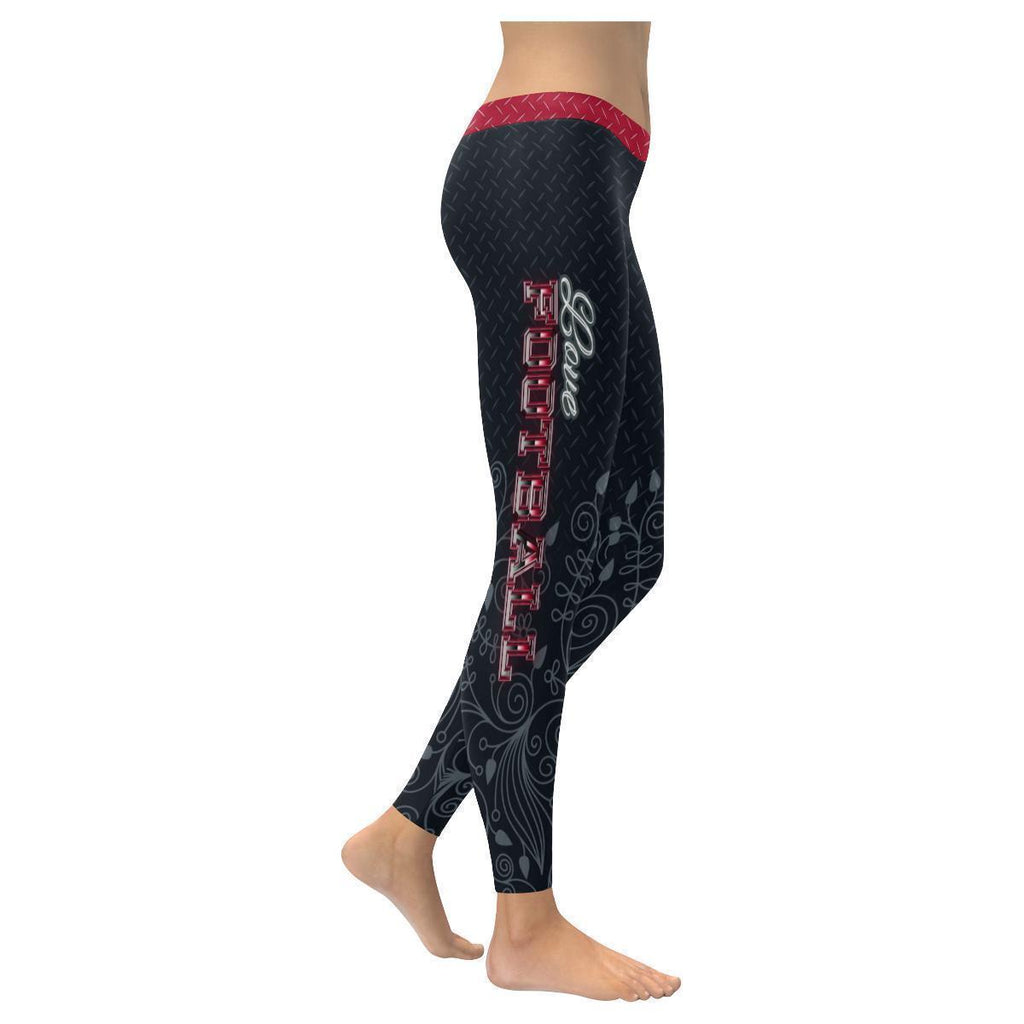 Love Football Go Atlanta Fan Diamond Plate Soft UPF40+ Womens Leggings-NeatFind.net