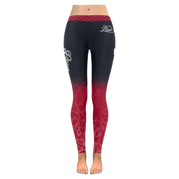 Love Football Go Atlanta Fan Gradient Color Dye Soft UPF40+ Womens Leggings-NeatFind.net