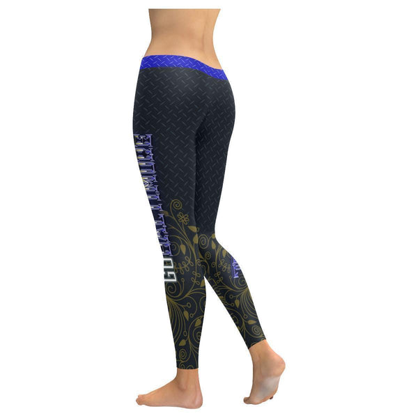 Love Football Go Baltimore Fan Diamond Plate Soft UPF40+ Womens Leggings-NeatFind.net