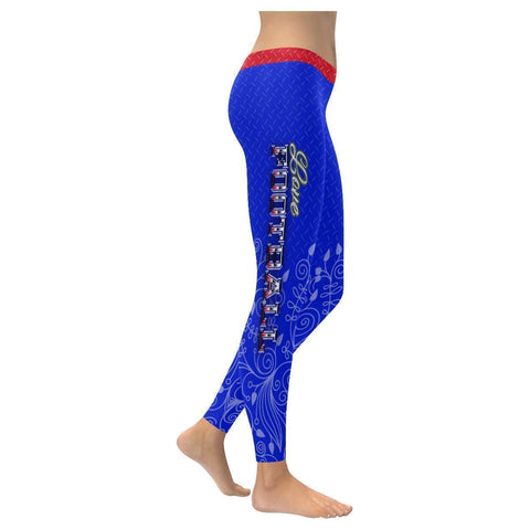 Love Football Go Buffalo Fan Diamond Plate Soft UPF40+ Womens Leggings-NeatFind.net