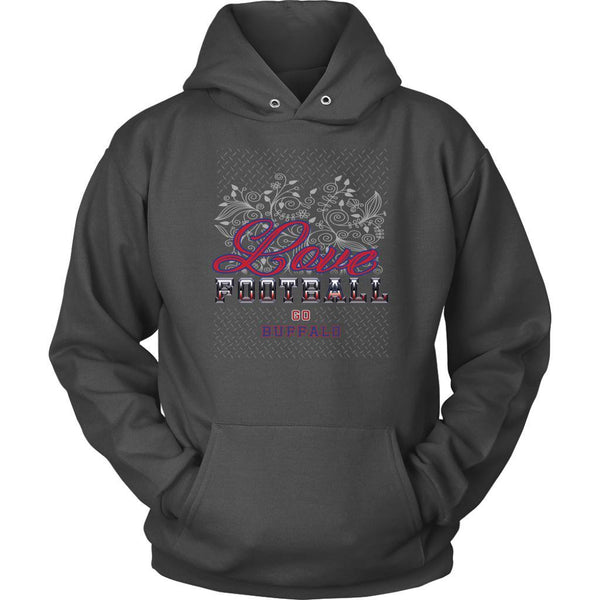 Love Football Go Buffalo Fan Gifts Ideas Diamond Plate Cool Soft Cozy Hoodie-NeatFind.net