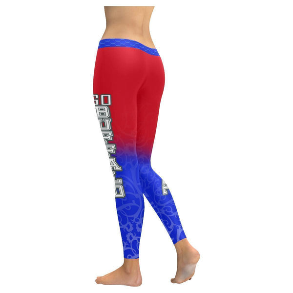 Love Football Go Buffalo Fan Gradient Color Dye Soft UPF40+ Womens Leggings-NeatFind.net