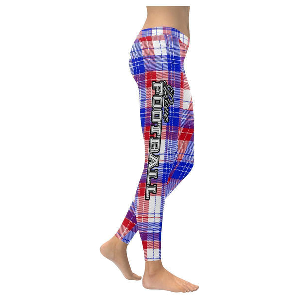 Love Football Go Buffalo Fan Plaid Checkered Soft UPF40+ Womens Leggings-NeatFind.net