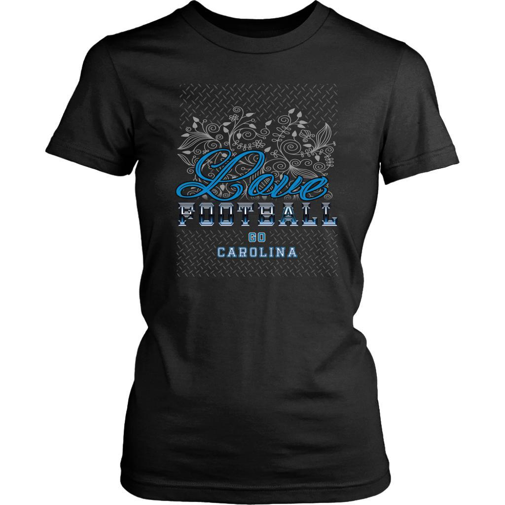 Love Football Go Carolina Fan Gifts Cute Diamond Plate Soft Comfy TShirt Women-NeatFind.net