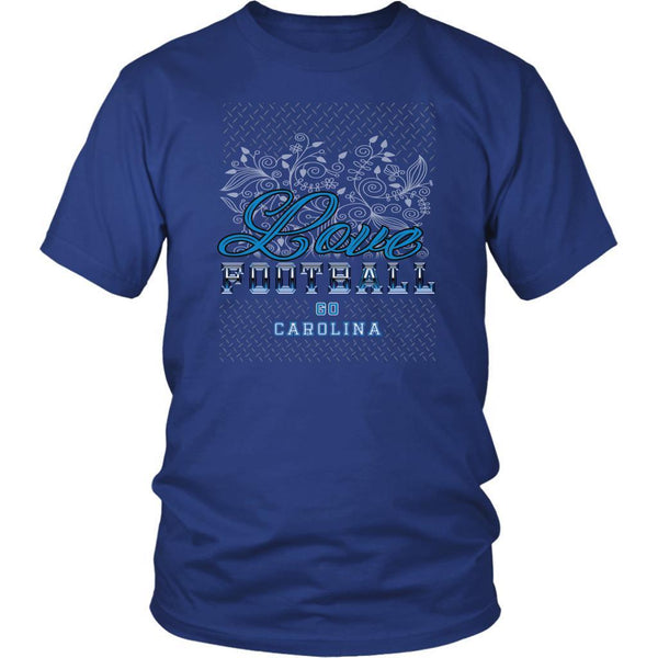 Love Football Go Carolina Fan Gifts Diamond Plate Awesome Cool Mens TShirts-NeatFind.net