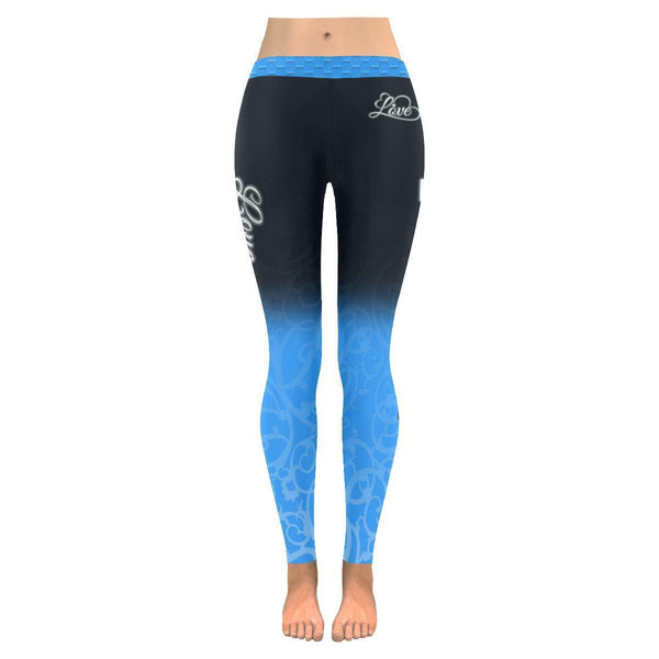 Love Football Go Carolina Fan Gradient Color Dye Soft UPF40+ Womens Leggings-NeatFind.net