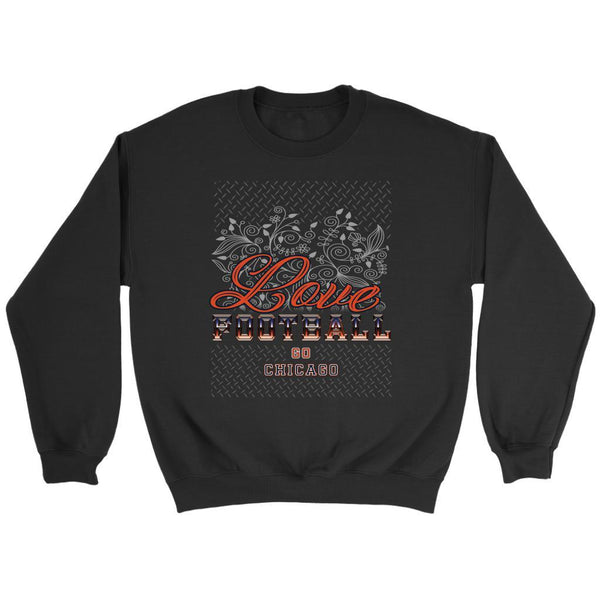 Love Football Go Chicago Fan Gifts Ideas Diamond Plate Cool Soft Cozy Sweater-NeatFind.net