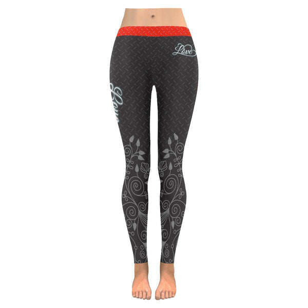 Love Football Go Cleveland Fan Diamond Plate Soft UPF40+ Womens Leggings-NeatFind.net