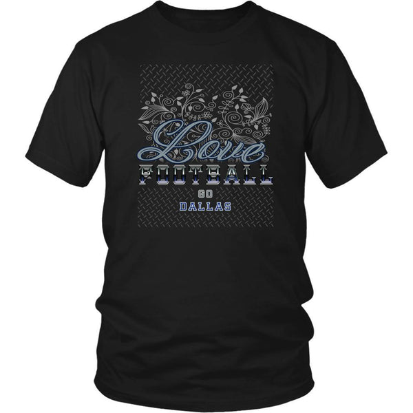 Love Football Go Dallas Fan Gifts Diamond Plate Awesome Cool Mens TShirts-NeatFind.net