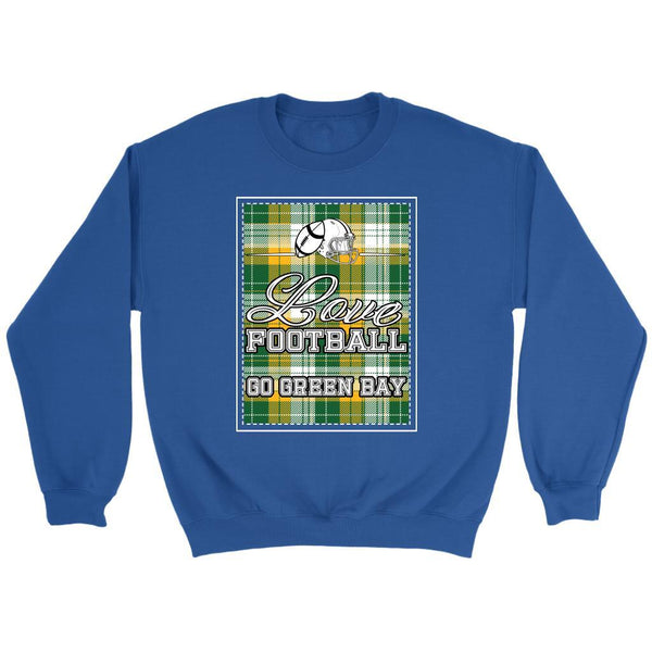 Love Football Go Green Bay Fan Gift Ideas Checkered Plaid Cool Soft Cozy Sweater-NeatFind.net