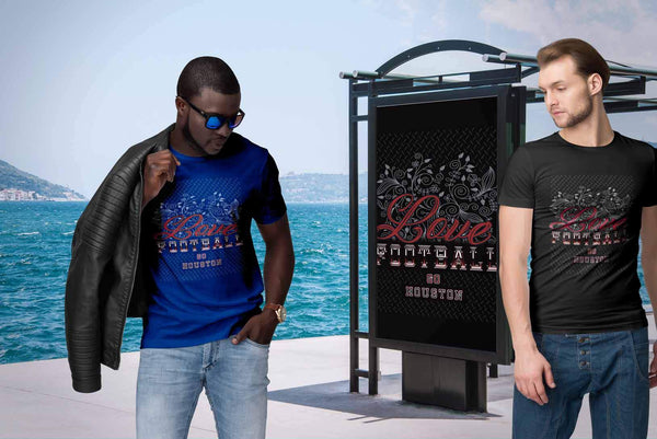 Love Football Go Houston Fan Gifts Diamond Plate Awesome Cool Mens TShirts-NeatFind.net