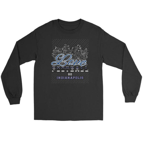 Love Football Go Indianapolis Fan Gift Ideas Diamond Plate Cool Soft Long Sleeve-NeatFind.net
