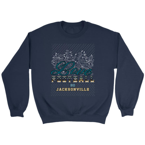 Love Football Go Jacksonville Fan Gift Idea Diamond Plate Cool Soft Cozy Sweater-NeatFind.net