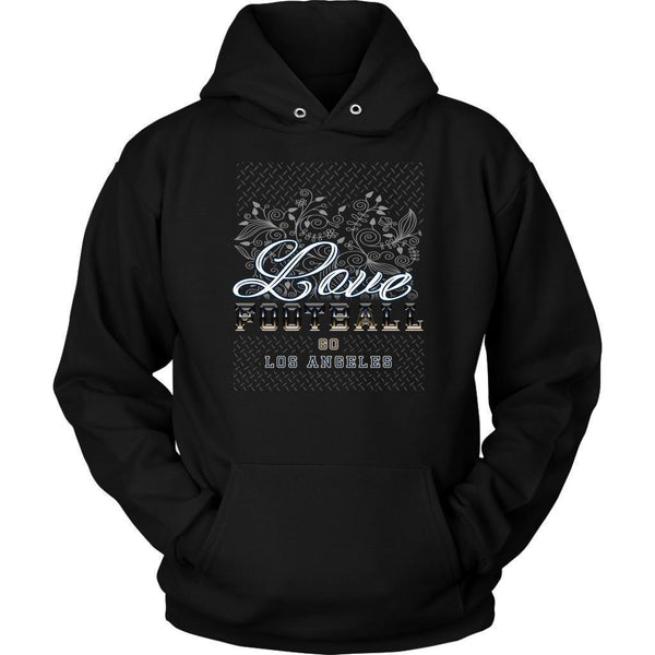 Love Football Go Los Angeles Fan Gift Idea Diamond Plate Cool Soft Cozy Hoodie-NeatFind.net