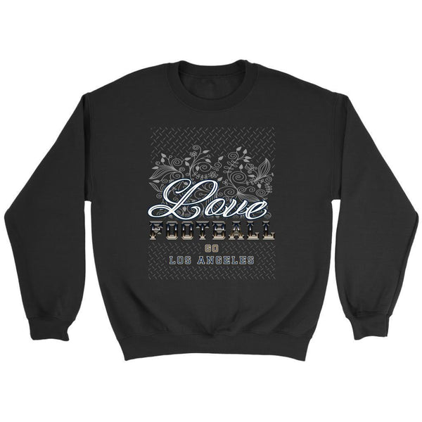 Love Football Go Los Angeles Fan Gift Idea Diamond Plate Cool Soft Cozy Sweater-NeatFind.net