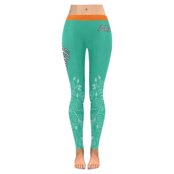 Love Football Go Miami Fan Diamond Plate Soft UPF40+ Womens Leggings-NeatFind.net