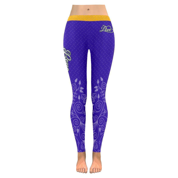 Love Football Go Minnesota Fan Diamond Plate Soft UPF40+ Womens Leggings-NeatFind.net