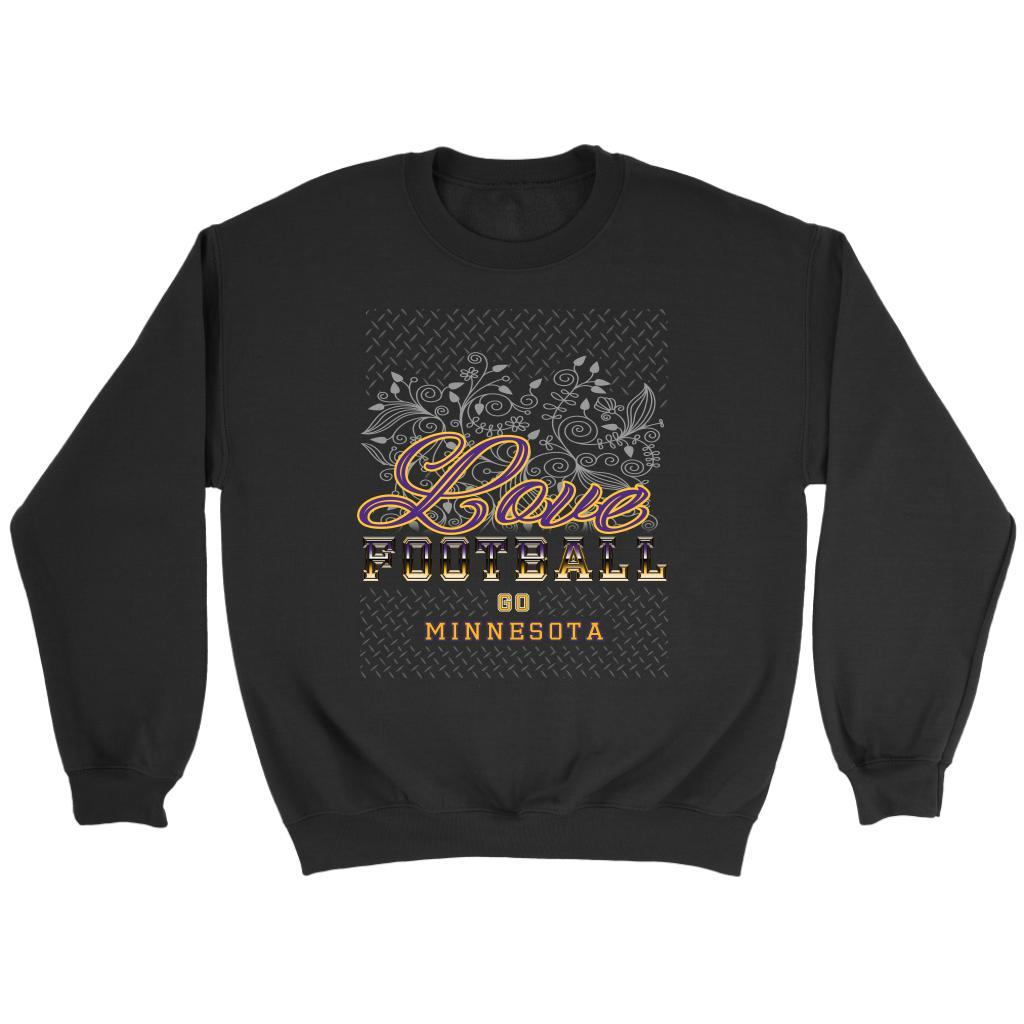 Love Football Go Minnesota Fan Gifts Ideas Diamond Plate Cool Soft Cozy Sweater-NeatFind.net
