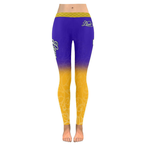Love Football Go Minnesota Fan Gradient Color Dye Soft UPF40+ Womens Leggings-NeatFind.net