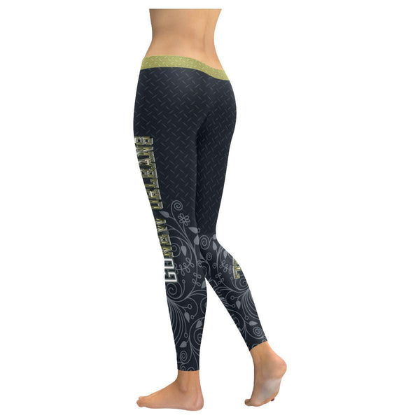 Love Football Go New Orleans Fan Diamond Plate Soft UPF40+ Womens Leggings-NeatFind.net