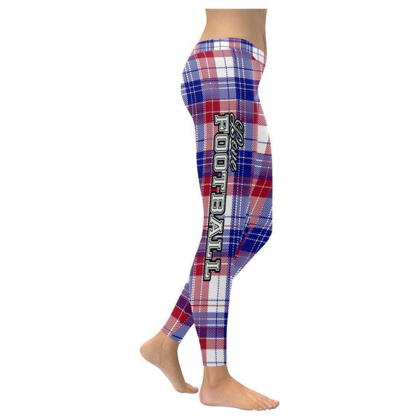 Love Football Go New York Fan Gift Idea Checkered Plaid Soft UPF40 Women Legging-NeatFind.net