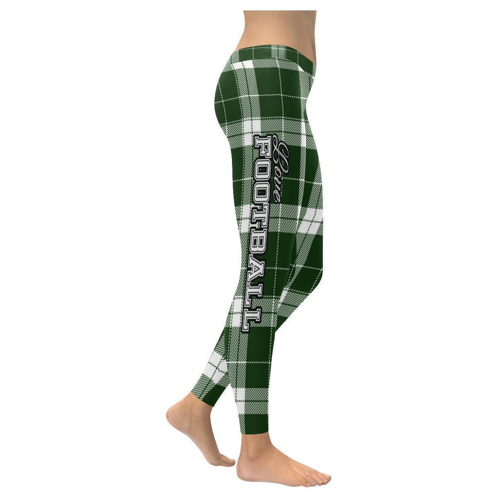 Love Football Go New York Fan Gift Ideas Checkered Plaid UPF40+ Womens Leggings-NeatFind.net