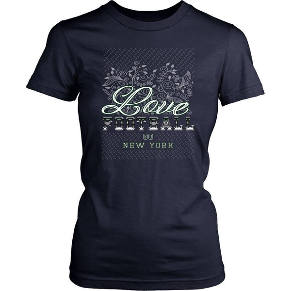 Love Football Go New York Fan Gifts Cute Diamond Plate Soft Comfy TShirt Women-NeatFind.net