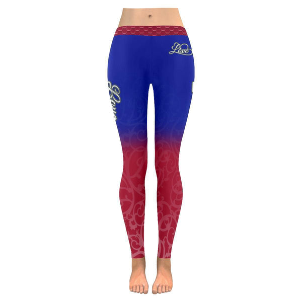 Love Football Go New York Fan Gifts Gradient Color Dye Soft UPF40 Women Leggings-NeatFind.net