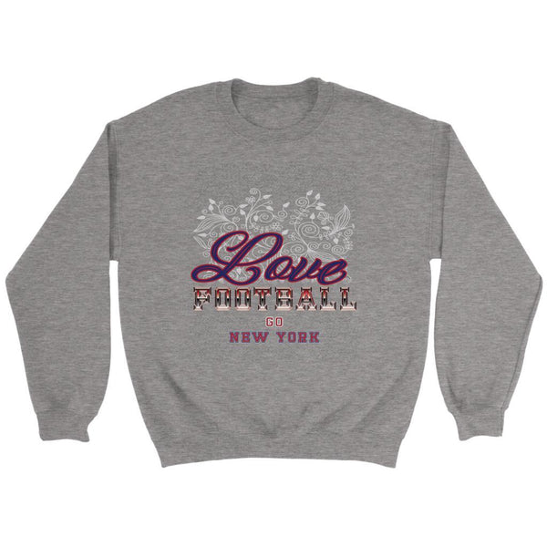 Love Football Go New York Fan Gifts Ideas Diamond Plate Cool Soft Cozy Sweater-NeatFind.net