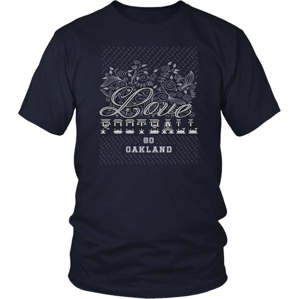 Love Football Go Oakland Fan Gifts Diamond Plate Awesome Cool Mens TShirts-NeatFind.net