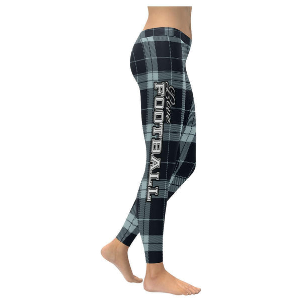 Love Football Go Oakland Fan Plaid Checkered Soft UPF40+ Womens Leggings-NeatFind.net