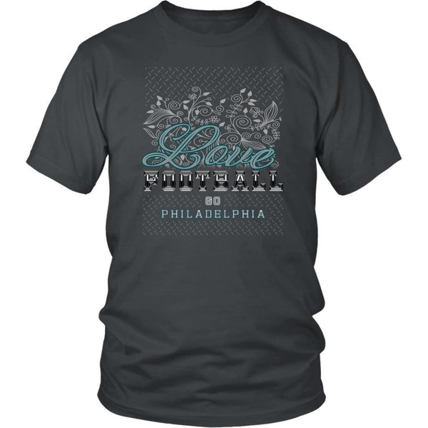Love Football Go Philadelphia Fan Gifts Diamond Plate Awesome Cool Mens TShirts-NeatFind.net