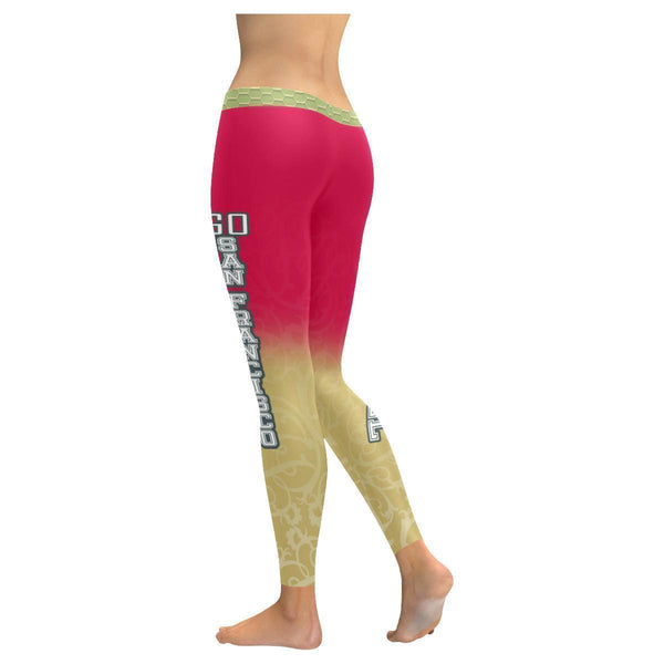 Love Football Go San Francisco Fan Gradient Color Dye Soft UPF40+ Women Leggings-NeatFind.net