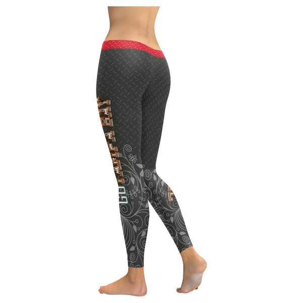 Love Football Go Tampa Bay Fan Diamond Plate Soft UPF40+ Womens Leggings-NeatFind.net