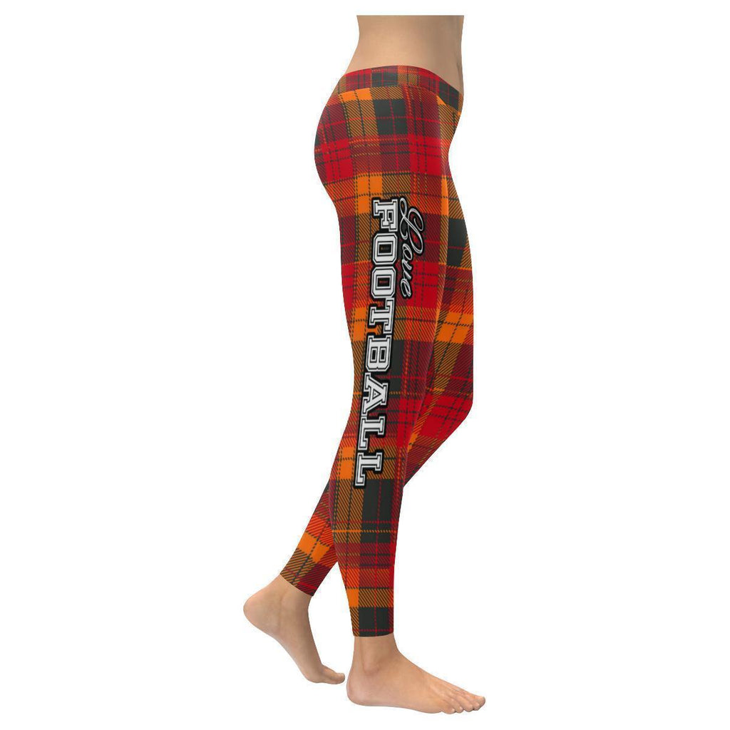 Love Football Go Tampa Bay Fan Plaid Checkered Soft UPF40+ Womens Leggings-NeatFind.net