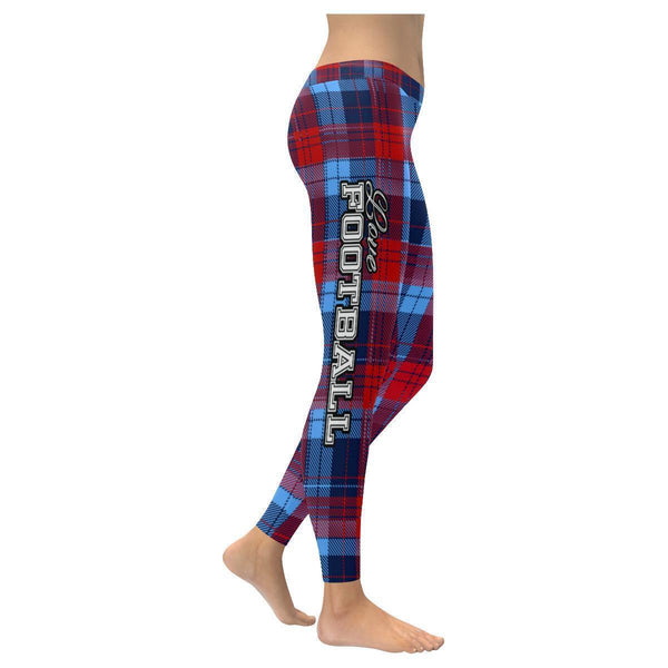 Love Football Go Tennessee Fan Plaid Checkered Soft UPF40+ Womens Leggings-NeatFind.net