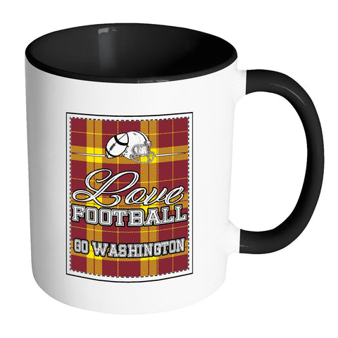 Love Football Go Washington Fan Gift Checkered Plaid Tartan 7Color Mug-NeatFind.net