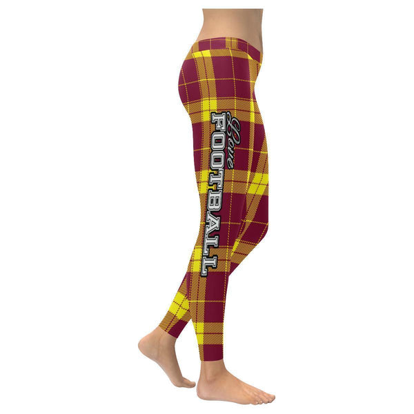 Love Football Go Washington Fan Plaid Checkered Soft UPF40+ Womens Leggings-NeatFind.net