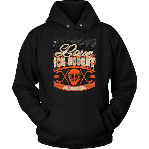 Love Hockey Go Anaheim Fan Gifts Gradient Vine Cool Unisex Hoodie-NeatFind.net