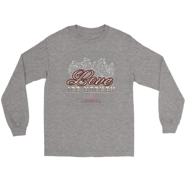 Love Hockey Go Arizona Fan Gifts Diamond Plate Cool Long Sleeve TShirt-NeatFind.net