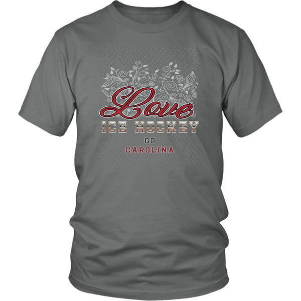 Love Hockey Go Carolina Fan Gifts Diamond Plate Cool Unisex TShirt Men-NeatFind.net