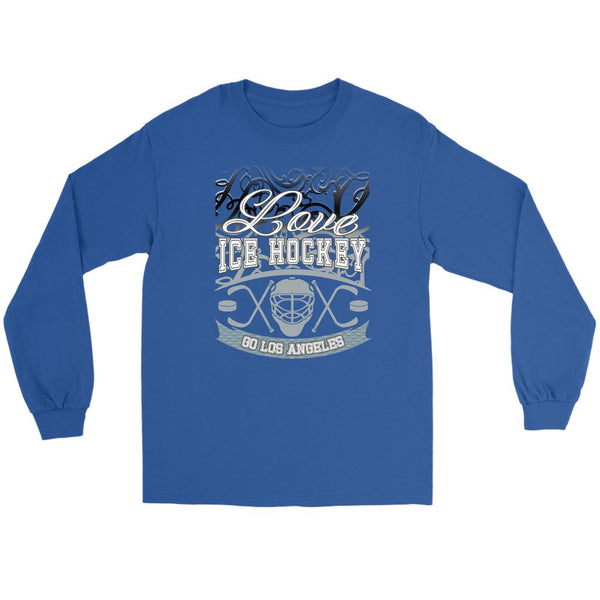 Love Hockey Go Los Angeles Fan Gifts Gradient Vine Cool Long Sleeve TShirt-NeatFind.net