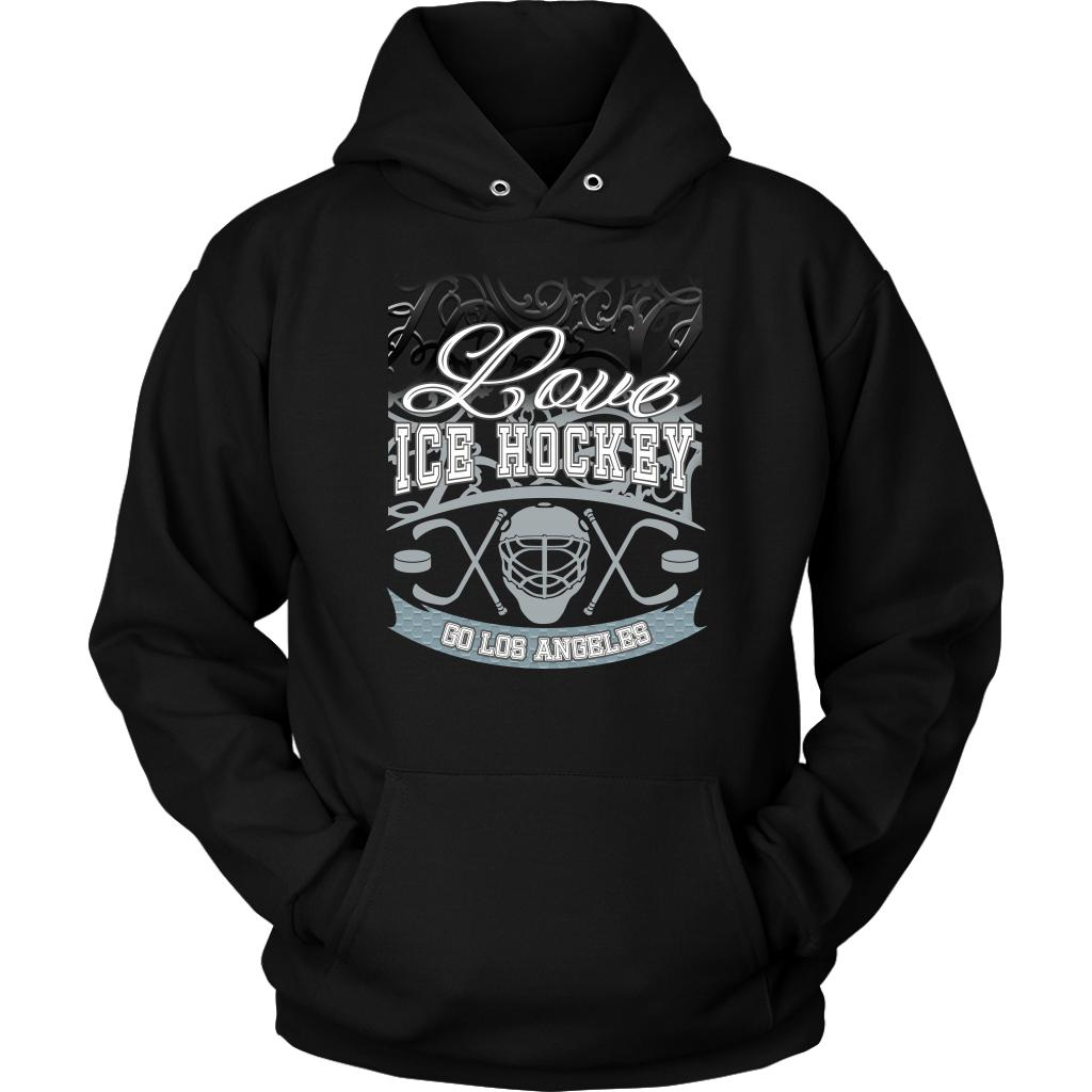 Love Hockey Go Los Angeles Fan Gifts Gradient Vine Cool Unisex Hoodie-NeatFind.net