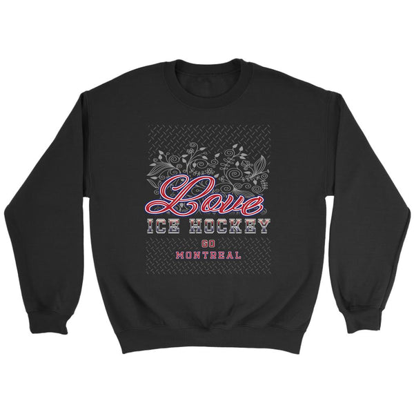 Love Hockey Go Montreal Fan Gifts Diamond Plate Unisex Sweaters Sweatshirt-NeatFind.net