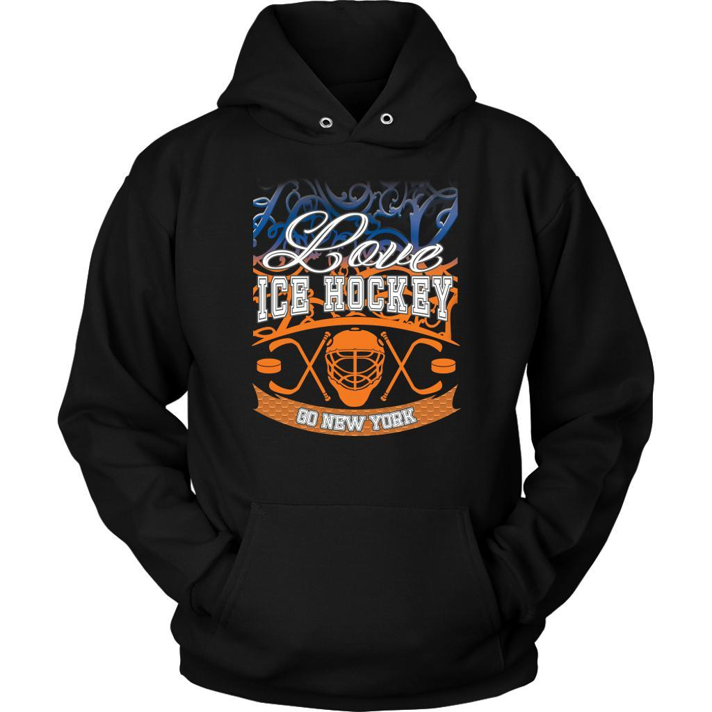 Love Hockey Go New York Fan Gifts Ideas Gradient Vines Cool Soft Cozy Hoodie-NeatFind.net