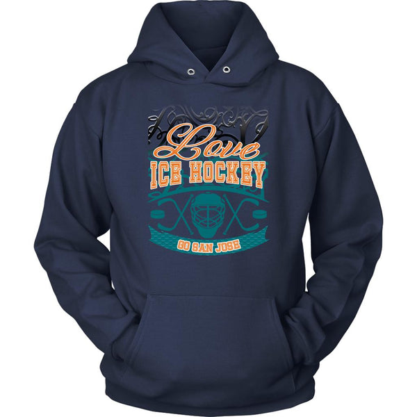 Love Hockey Go San Jose Fan Gifts Gradient Vine Cool Unisex Hoodie-NeatFind.net