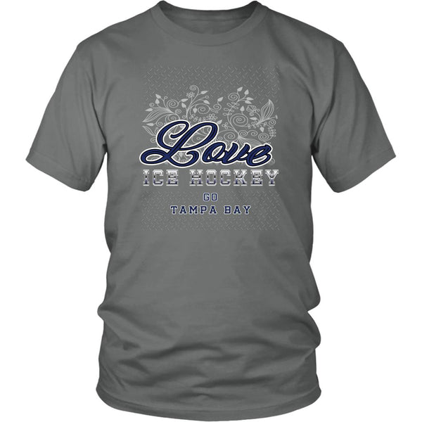 Love Hockey Go Tampa Bay Fan Gifts Diamond Plate Cool Unisex TShirt Men-NeatFind.net